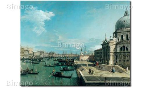 """The Entrance to the Grand Canal and the church of Santa Maria della Salute, Venice"""